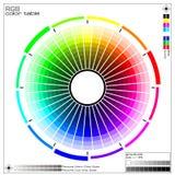 Farben-Rad Lizenzfreies Stockbild