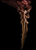 Farben-Rauch über schwarzem Hintergrund Lizenzfreie Stockbilder