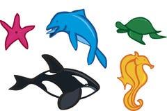 Farben-Seetiere lizenzfreie abbildung
