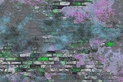 Farben-Spritzen-Ziegelstein Grunge Lizenzfreies Stockfoto