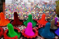 Farben in Udaipur Stockbild