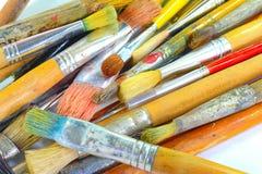 Farben und Bürsten Stockbild