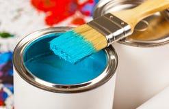 Farben und Bürsten Stockfotos