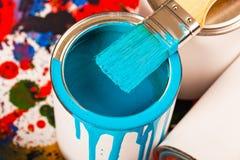Farben und Bürsten Lizenzfreie Stockbilder