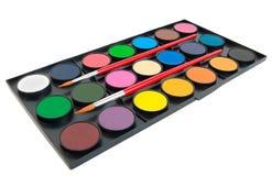 Farben und Pinsel Stockfotografie
