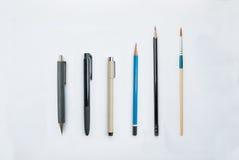 Farben- und Schreibenswerkzeuge Lizenzfreie Stockfotografie