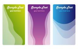 Farben-Visitenkarten Lizenzfreie Stockfotografie