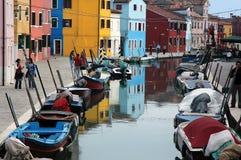 Farben von burano 2 Stockfotos