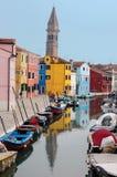 Farben von Burano Stockfoto