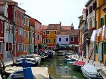 Farben von Burano Lizenzfreie Stockbilder
