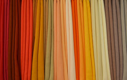 Farben von den Stoffen Stockbilder