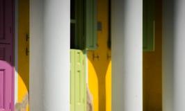 Farben von Griechenland Kastelorizo Stockfotos