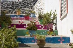 Farben von Linosa Farben von Mittelmeer lizenzfreie stockfotos