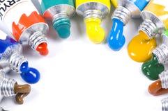Farben von oben Stockfotografie