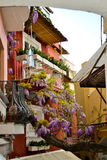 Farben von Positano lizenzfreie stockfotos