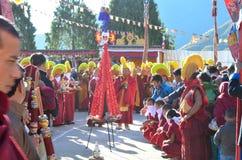 Farben von Torgya, West-Kameng Stockfotos
