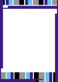 Farben-Zeile Rand Lizenzfreies Stockbild
