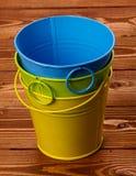 Farben-Zinn-Wannen Stockfotografie