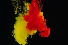 Farbenabstraktion auf einem schwarzen Hintergrund Lizenzfreie Stockfotos