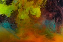Farbenabstraktion auf einem schwarzen Hintergrund Lizenzfreie Stockbilder