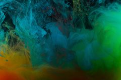 Farbenabstraktion auf einem schwarzen Hintergrund Lizenzfreies Stockfoto