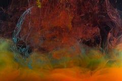 Farbenabstraktion auf einem schwarzen Hintergrund Stockfotos