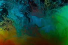 Farbenabstraktion auf einem schwarzen Hintergrund Lizenzfreies Stockbild