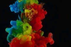 Farbenabstraktion auf einem schwarzen Hintergrund Stockfoto