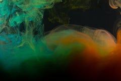 Farbenabstraktion auf einem schwarzen Hintergrund Stockbilder
