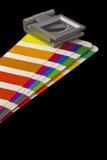 Farbenanleitung für Versatzdruck auf schwarzem blackground Lizenzfreies Stockbild