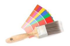 Farbenanleitung und Pinsel 2 Lizenzfreies Stockbild