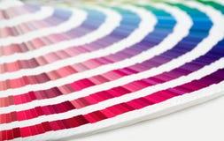 Farbenanleitungnahaufnahme Stockbild
