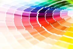 Farbenanleitungnahaufnahme Stockfoto