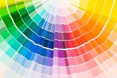 Farbenanleitungproben stockbilder