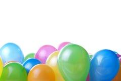 Farbenballone getrennt Stockfoto