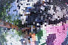 Farbenbeleuchtung-Spiegelkugel Lizenzfreies Stockbild