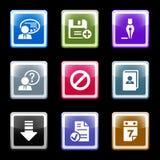 Farbenbildschirm stellte 2 ein Lizenzfreie Stockfotografie