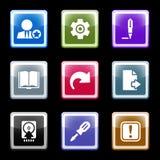 Farbenbildschirm stellte 6 ein Lizenzfreies Stockfoto