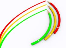Farbenbleistift lizenzfreie abbildung