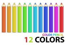 Farbenbleistift Stockbild