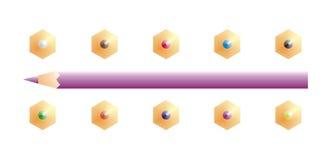 Farbenbleistift vektor abbildung