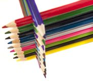 Farbenbleistift Lizenzfreie Stockfotos