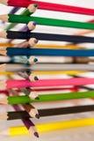 Farbenbleistift auf Weiß stockfoto