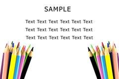 Farbenbleistift auf weißem Hintergrund Lizenzfreie Stockbilder