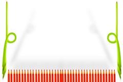 Farbenbleistift im weißen Hintergrund Stockfoto