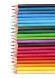 Farbenbleistifte über Weiß Stockfoto