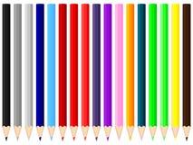 Farbenbleistifte stock abbildung
