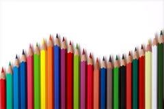 Farbenbleistifte. Stockfoto