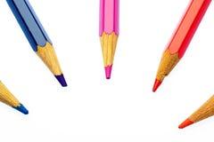 Farbenbleistifte der verschiedenen Farben Lizenzfreies Stockbild