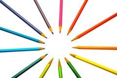 Farbenbleistifte der verschiedenen Farben Lizenzfreies Stockfoto